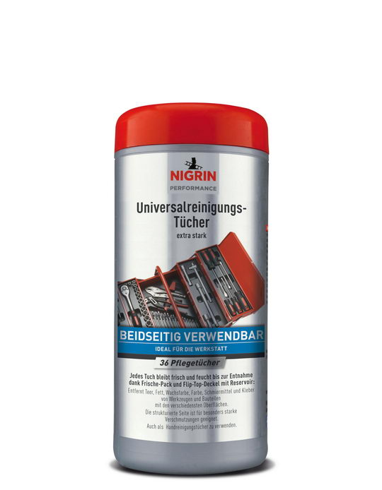 NIGRIN Performance Universal-Reinigungstücher  (36 Pflegetücher, extra stark und beidseitig verwendbar)