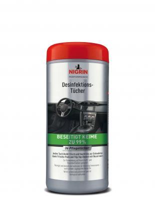 NIGRIN Performance Desinfektions-Tücher  (36 Pflegetücher)