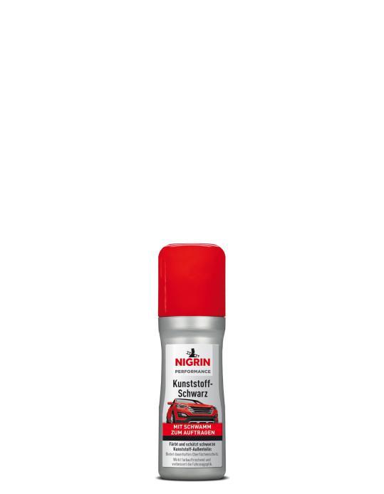 NIGRIN Performance Kunststoff-Schwarz  (75 ml mit integriertem Applikationsschwamm)