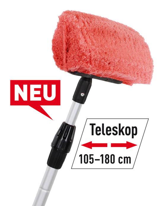 NIGRIN CARAVAN Teleskop-Waschbürste  (105–180 cm)