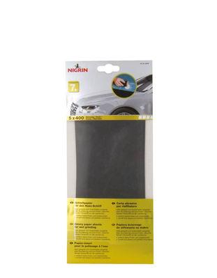 NIGRIN Schleifpapier für den Nass-Schliff Körnung 400 (5 Blatt)