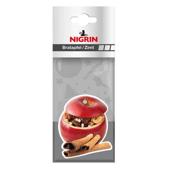 NIGRIN Clip-Strip Winterduft Bratapfel/Zimt (10x Duftblatt auf Clip-Strip)