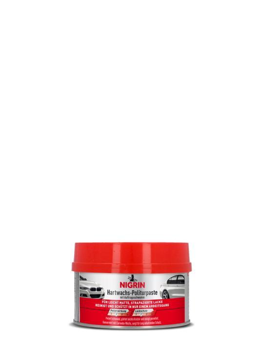 NIGRIN Hartwachs-Politurpaste - mit Auftragsschwamm - (250ml)