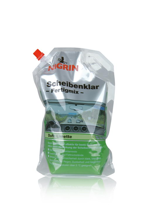 "NIGRIN Scheibenklar, Duft ""Limette"" – Fertigmix – (2L)"