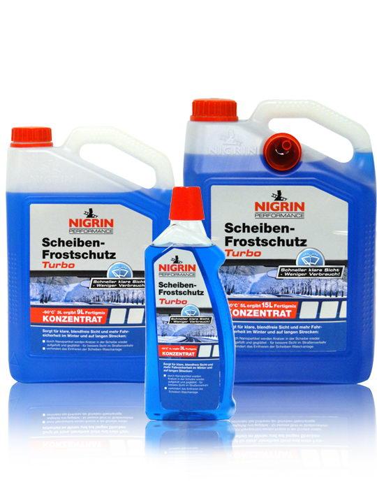 """NIGRIN Performance Scheiben-Frostschutz """"Turbo"""" – Konzentrat 1:2 bis -60°C – (1L)"""