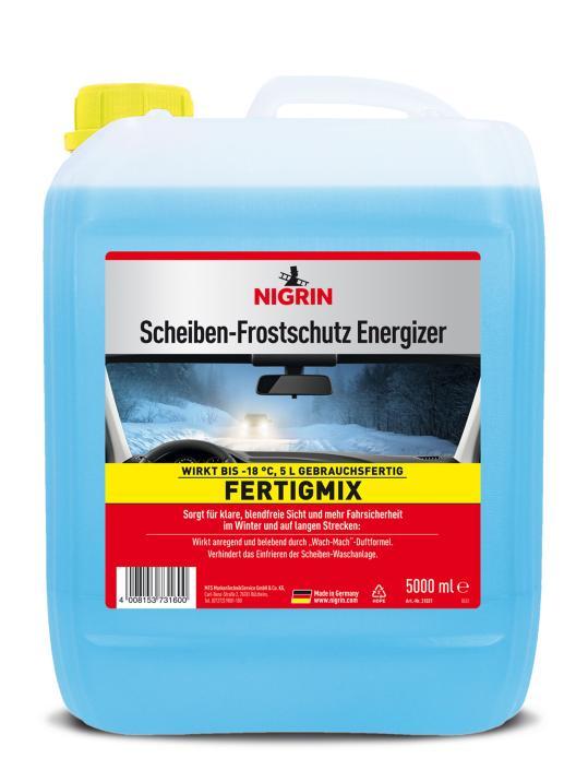 """NIGRIN Performance Scheiben-Frostschutz """"Energizer"""" – Fertigmix bis -22°C – (1L)"""