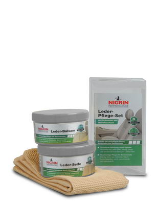 NIGRIN Performance Leder-Pflege-Set Seife+Balsam (2x 250ml)
