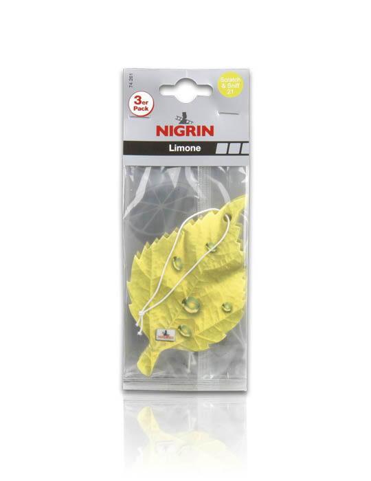 NIGRIN Duftblatt 3-er Pack  (Limone)