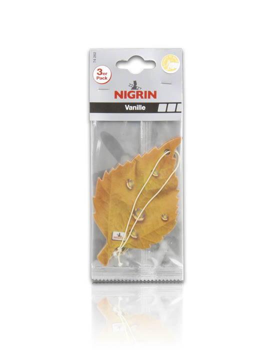 NIGRIN Duftblatt 3-er Pack  (Vanille)